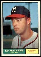 1961 Topps Set Break EX Surface Issues Ed Mathews Milwaukee Braves #120