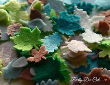 Felt Leaves (18) Die Cut Floral Craft Embellishments