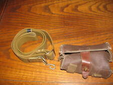 Used Soviet OD web sks rifle sling Russian stamp OTK 7.62x39 ammo pouch brown