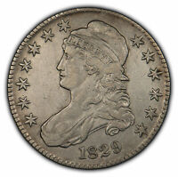 1829 50c Capped Bust Half Dollar - XF/AU Details - SKU-H1028