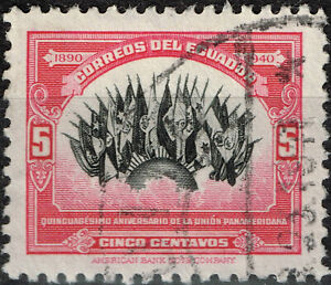 Ecuador Flags of 21 American Republics stamp 1940