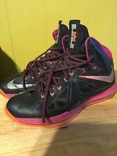 sports shoes 4120d a4c34 Nike Men s Lebron James X 10 Floridian Basketball Shoes 541100-005 Size 13