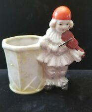 Vintage Clown Playing Violin Planter, made in Japan