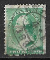 USA: 1882 2c Green WASHINGTON VG Used Edge of Sheet