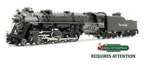 OVERLAND MODELS 'HO' GAUGE D&GRW BLACK 4-8-4 M-64 #1704 STEAM LOCOMOTIVE