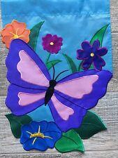 New listing Blue Butterfly AppliquÉ Garden Flag(11.� X 15�