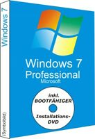 Windows 7 Professional DVD 32/64Bit (bootfähig) + Win 7 Pro Key