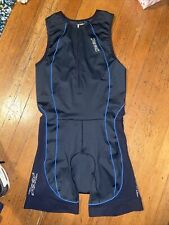 Zoot Ultra Triathlon Skin Suit Mens Large Black/Blue