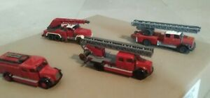 Wiking, Brekina.. Genuine Ho Fire And Rescue Set.. Look Vintage..