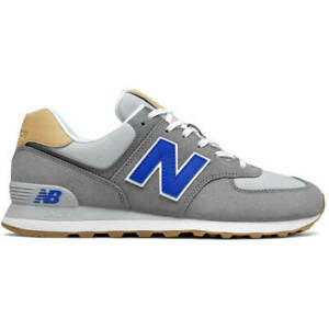 New Balance NB 574 Men's Casual Sneakers Lifestyle Shoes Suede Grey ML574NE2