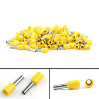 Wire Copper Crimp Connector 100Pcs E2508 14AWG Insulated Terminal 2.5mm² Yellow/