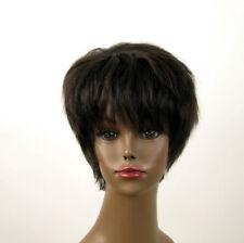 perruque afro femme 100% cheveux naturel méchée noir/cuivré JEAN 04/1b30