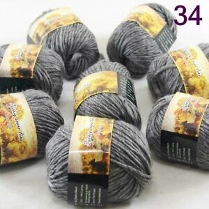SALE LOT of 8balls x 50gr NEW Chunky Colorful Hand Knitting Scores Wool Yarn 34