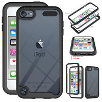 For iPod Touch 7th 6th 5th Gen Shockproof TPU Bumper Clear Protective Case Cover