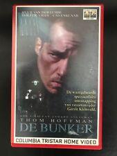 De Bunker Ex-Rental Vintage Big Box VHS Tape Dutch NL Film Videoband