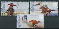 Kyrgyzstan KEP 2017 MNH Salbuurun Traditional Hunting 3v Set Dogs Foxes Stamps