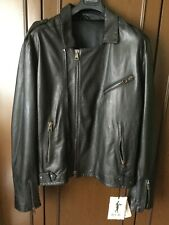 Incredibly beautiful jacket H.C.R. man, black color, size 56 leather Giacca uomo
