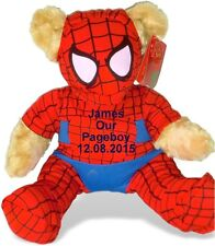 Personalised Spiderbear Teddy Bear Pageboy Ring Bearer Wedding Gift Favour