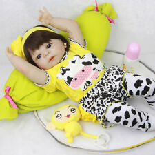 57cm Full Body Silicone Reborn Baby Doll Lifelike Handmade Newborn Waterproof