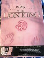 """Walt Disney Exclusive Deluxe Video """"The Lion King"""" Edition New and Unopened!"""