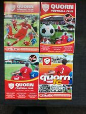 Collection of Four Quorn v Belper Town Football Programmes