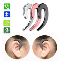 Bone Conduction Bluetooth Headset Wireless Sports Headphone Answer Phone w/ Mic