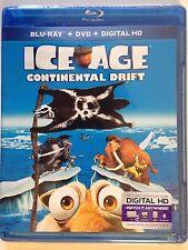 ICE AGE: CONTINENTAL DRIFT (BLU/DVD, 2013) W/ HD ULTRAVIOLET