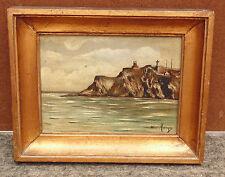 rare ancien magnifique tableau huile/ bois signé hunt metayer marine bretagne n1