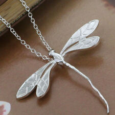 Silver Plated Flying Dragonfly Necklace & Pendant 20 inches long.925 Sterling