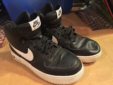 NIKE Youth Air Force 1 High (GS) Basketball Shoes Black/White SIZE 7Y GORGEOUS!