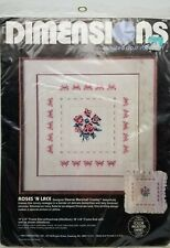 Counted Cross Stitch Roses 'n Lace Sampler Pillow Dimensions 3610 Vintage 1986