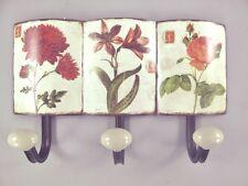 Wardrobe 3er Wall Hook Shield Iron Hanging Storage Lilacs Vintage Aesthetics Antique Furniture
