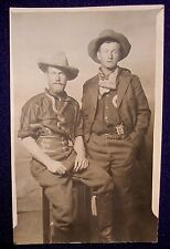 RPPC of Two Western Dudes, Armed in Cowboy Outfits.