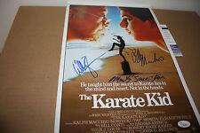THE KARATE KID 11X17 MOVIE POSTER SIGNED BY ZABKA,KOVE & RALPH MACCHIO JSA