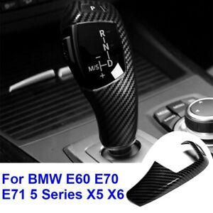 Für BMW E60 E70 E71 5er X5 X6 Carbon Fiber ABS Schaltknauf Schalthebel Aufkleber