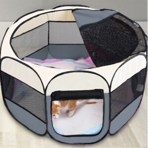 Large Foldable Fabric Dog Crate Cat Cage Pet Travel Puppy Play Pen Tent Outdoor