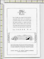 La Salle Cadillac Motor Car Company automobile 1931 magazine print ad