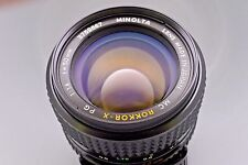 Minolta MC Rokkor-X PG 50mm F/1.4 MF Prime Lens - MD Mount Lens