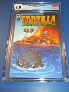 Godzilla Monsters and Protectors #2 CGC 9.8 NM/M Gorgeous Gem Wow