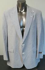 Mens Brooks Brothers 2 Button Blazer Sport Coat Blue White Size 50L Cotton New