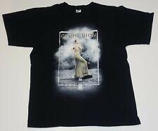 Celine Dion Back on the Road 2008 Black 2 Sided Concert Tour T Shirt Mens L