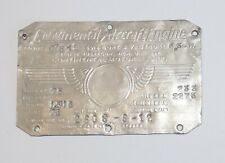 Most Unusual Continental C75-12 Data Plate, This is Neat!