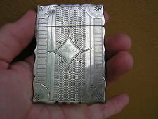 SCARCE ANTIQUE ORNATE VICTORIAN STERLING SILVER CARD CASE HOLDER
