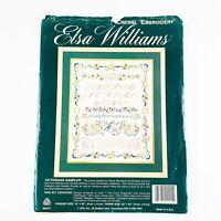 Elsa Williams Victoriana Sampler Crewel Embroidery Kit Nancy Bombard 16 x 20