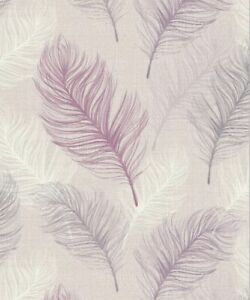 Arthouse Whisper Feather Wallpaper in Lavender 669803