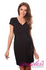 Maternidad Vestido de cóctel cuello en pico Pregnancy ropa talla 8 10 12 14 5416