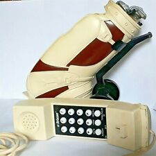 1980 NOVELTY PHONE - GOLF BAG and CLUBS by Betacom - Pre-owned GOOD CONDITION