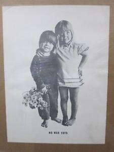 Vintage Black /White Poster Make love, NO war Toys Peace 1969 in#G579