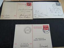 Nederland 3 verzonden briefkaarten