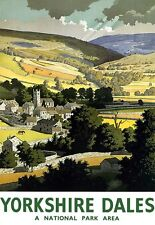 Yorkshire Dales National Park Area Railway Poster